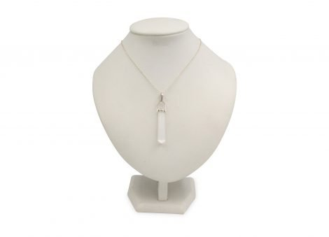 """Selenite """"Twin Point"""" Sterling Silver Pendant - Crystal Dreams"""