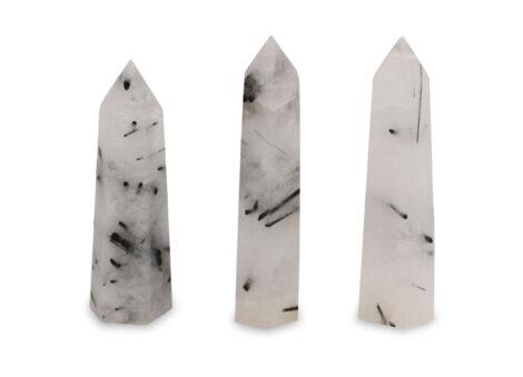 Tourmalinated Quartz Prism - Crystal Dreams