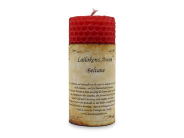 Altar Beltane Sabbat Candle-Crystal Dreams