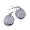 "Aquamarine ""Oval"" Sterling Silver Earrings - Crystal Dreams"