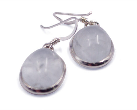 "Aquamarine ""Oval"" Sterling Silver Earrings - Crystal Dreams"