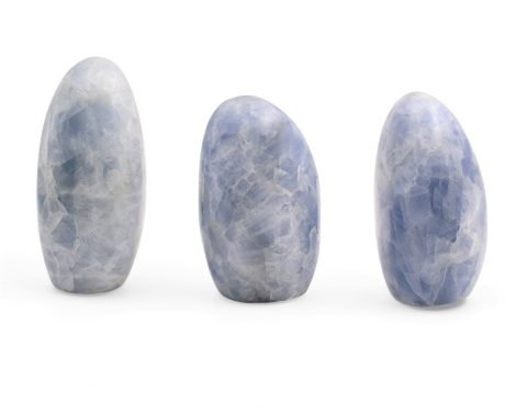 Blue Calcite Cut Base Polished Free Form - Crystal Dreams