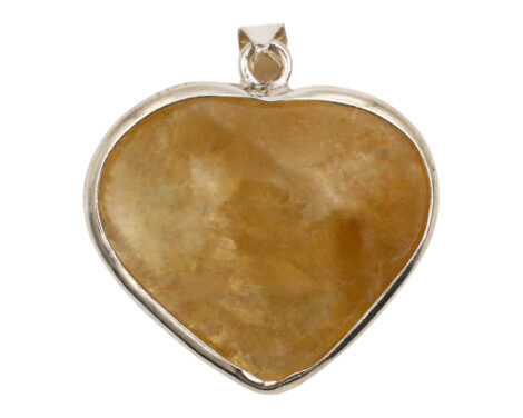 Citrine Heart Sterling Silver Pendant-Crystal Dreams