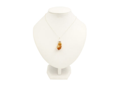 Citrine Rough Point Pendant Sterling Silver - Crystal Dreams