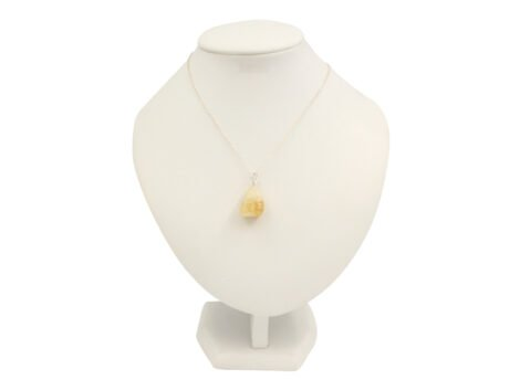 Citrine Tumbled Sterling Silver Pendant