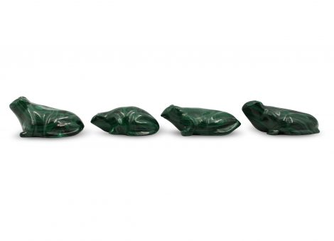 Malachite Animals Polished Frog - Crystal Dreams