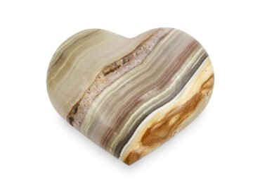 Banded Calcite Heart - Crystal Dreams