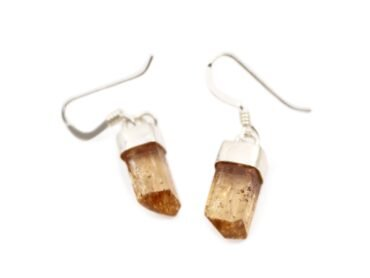 Imperial Topaz Earrings sterling Silver - Crystal Dreams