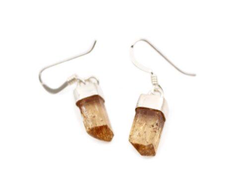 Imperial Topaz Earrings sterling Silver - Crystal Dreams