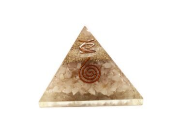 Pink Rose Quartz Orgone Pyramide - Orgonite (L) 60-70mm - Crystal Dreams
