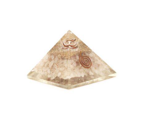 Pink Rose Quartz Orgone Pyramide - Orgonite (L) 60-70mm - Crystal Dreams