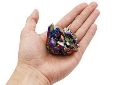 Aura Quartz Titanium (Hand) - Crystal Dreams