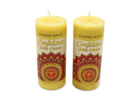 Confidence Spell Candle for the Solar Plexus Chakra - Crystal Dreams