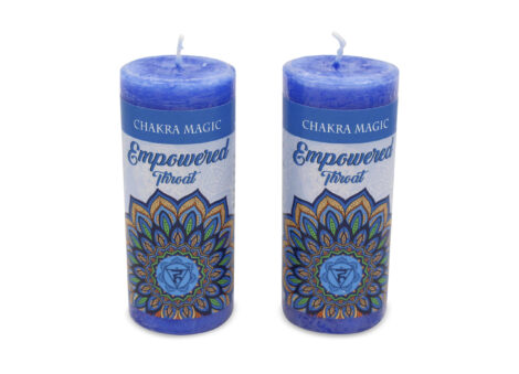 Empowered Spell Candle For Throat Chakra - Crystal Dreams