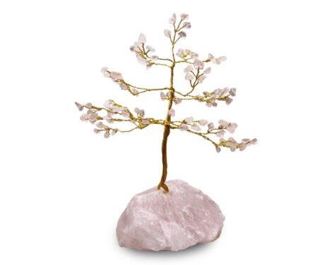 Rose Quartz Tree - Rough Base - Crystal Dreams
