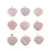 Rose Quartz Heart Sterling Silver Pendant - Crystal Dreams