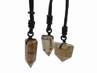 Rutilated Quartz Necklace Pendant - Crystal Dreams