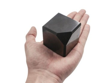 Shungite Corner Self Standing Cube - Crystal Dreams
