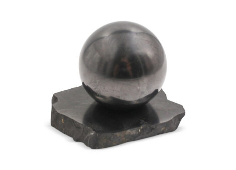 Shungite Sphere Polished (L) - Crystal Dreams