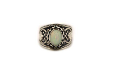 """Opal """"Cabochon"""" Sterling Silver Ring - Crystal Dreams"""