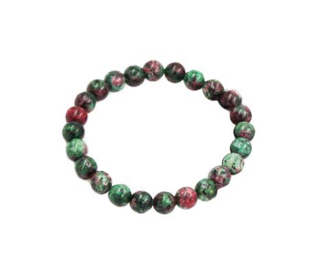 Ruby Zoisite Bracelet ( 8mm or 10mm)-Crystal Dreams