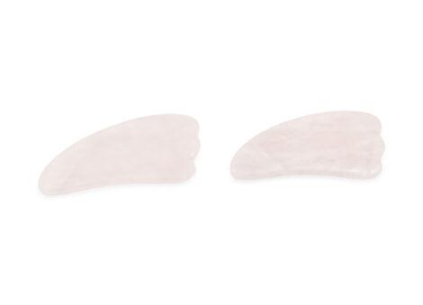 rose quartz gua sha triple head - Crystal Dreams