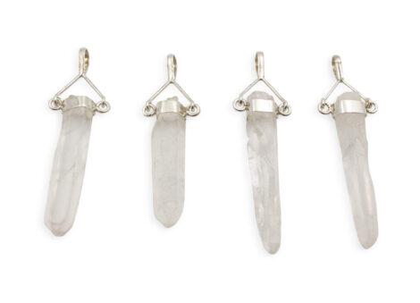 "Clear Quartz ""Rough Swivel"" Sterling Silver Pendant - Crystal Dreams"