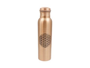 Flower of Life Copper water bottle - Crystal Dreams