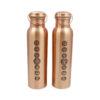 Chakras Copper water bottle - Crystal Dreams