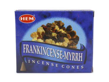 HEM Frankincense Myrrh Incense Cone - Crystal Dreams