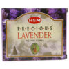 HEM Precious Lavender Incense Cone - Crystal Dreams