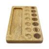 Selenite Charging Chakra Kit with Wood Base - Crystal Dreams