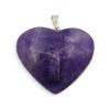 Amethyst Heart Crystal Pendants - Crystal Dreams