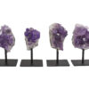 Amethyst Druze Iron Stand Base (M) - Crystal Dreams