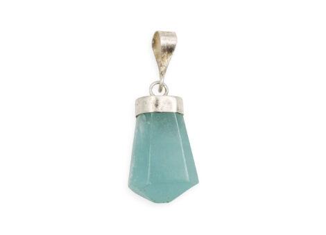 Blue Hemimorphite Sterling Silver Pendant - Crystal Dreams