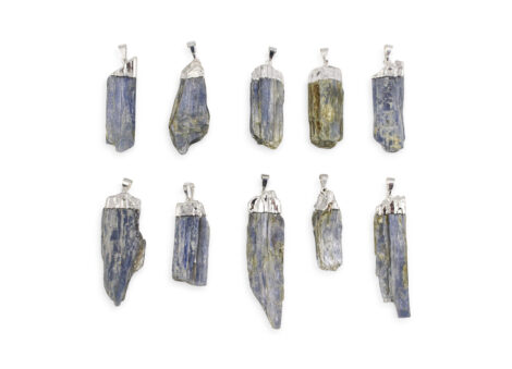 Rough Blue Kyanite Pendant Silver Colour - Crystal Dreams