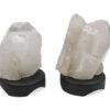 Clear Quartz Point Lamp Wood Base - Crystal Dreams