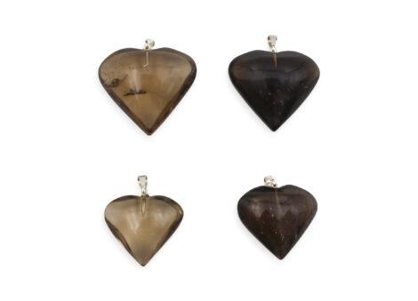 Smoky Quartz Heart Pendant - Crystal Dreams